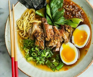 food, japanese food, and noodles image