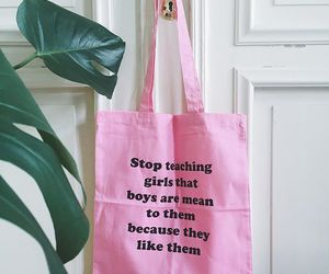 feminist, pink, and shopping bag image