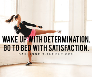 fitness, motivation, and determination image