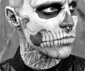 zombie boy, tattoo, and rick genest image