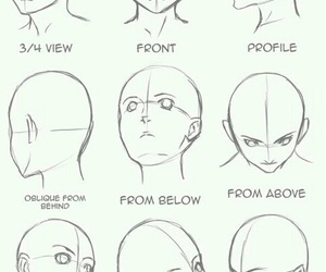 draw, anime, and head image