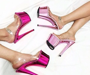 high heels, pink shoes, and pumps image