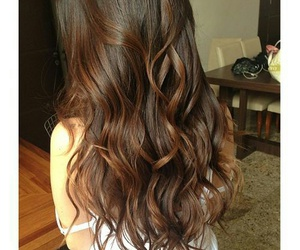hair, brown, and curls image