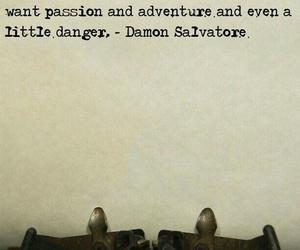 damon salvatore, the vampire diaries, and love image