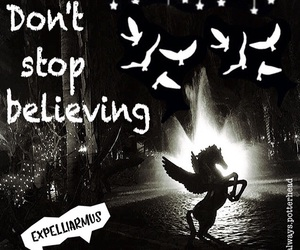 harrypotter, dontstopbelieving, and myedit image
