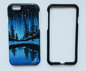 art, blue, and case image