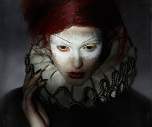 circus, clown, and makeup image