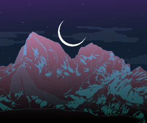 moon, aesthetic, and night image