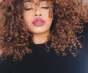 curly, fashion, and girl image
