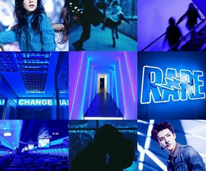 aesthetic, blue, and exo image