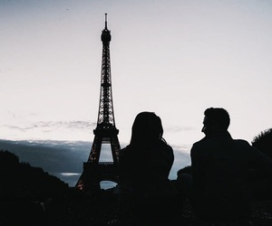 couples, eiffel tower, and france image