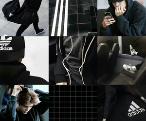 aesthetic, black, and moodboard image