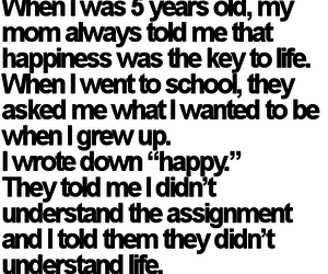 life, happy, and quotes image