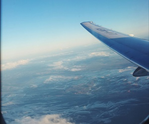 fly, plane, and travel image