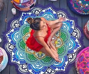 bohemian, meditation, and peace image