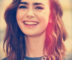 lily collins, hair, and smile image