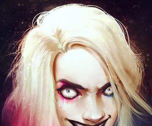 harley quinn, dc comics, and blonde image