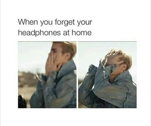 funny, headphones, and true image