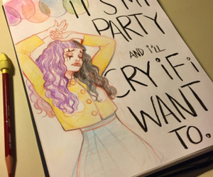 drawing, pity party, and melanie martinez image