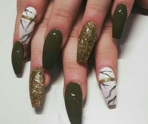 browns, golden, and nail art image