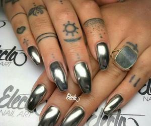 chrome, nail art, and nail polish image