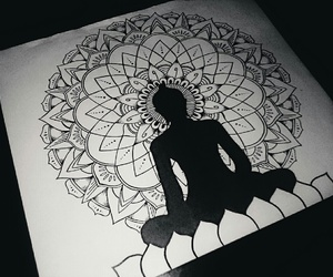 art, black&white, and buda image