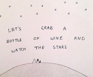 stars, wine, and watch image