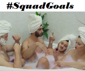 bath, cool, and goals image