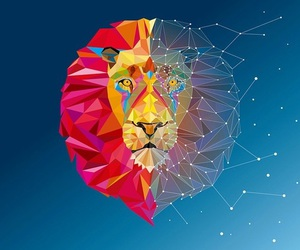 lion, sky, and wallpaper image