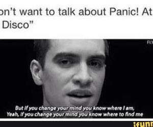 P!ATD, meme, and panic! at the disco image