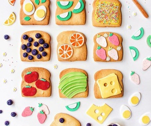 Cookies and fruit image