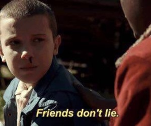 stranger things, eleven, and friends image