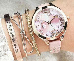 girly, pink, and bracelet image