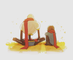 undertale and frisk and papyrus image