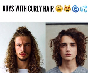 😍 and cute men with curly hair image