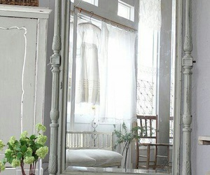 bedroom, home decor, and vintage mirror image