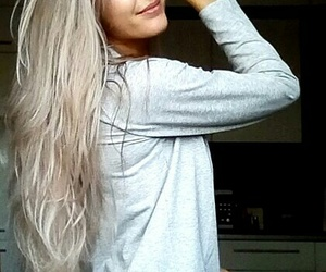 blonde, long hair, and blond image