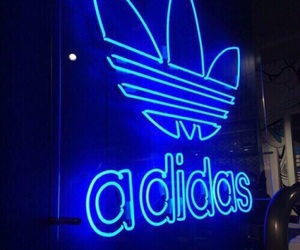 adidas, blue, and neon image
