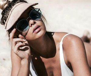 cell phone, cap, and summer style image