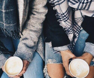 coffee, fashion, and friends image
