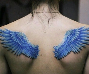 Angel Wings, blue, and nice image