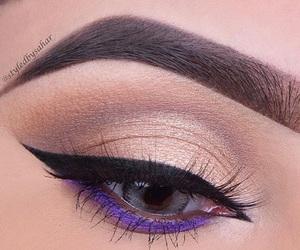 blue eyes, makeup, and eye-liner image