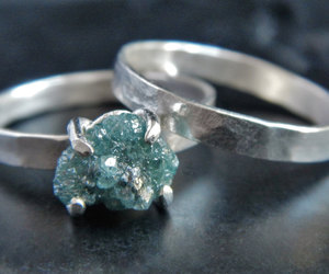etsy, engagement ring, and blue diamond image