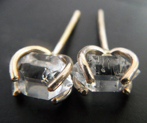 etsy, crystal earrings, and small stud earrings image