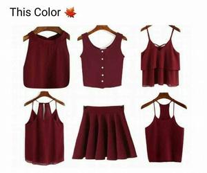 autumn, fashion, and maroon image
