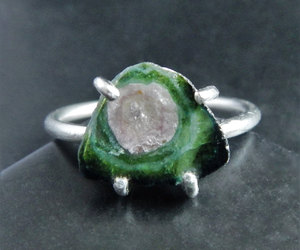 cocktail ring, crystal ring, and raw stone ring image