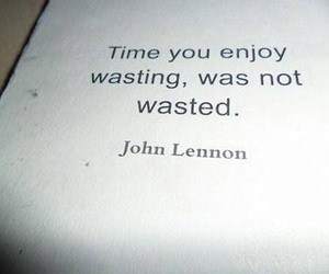 john lennon, quote, and time image