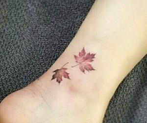 tattoo, leaves, and autumn image