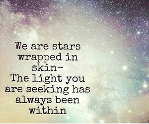 stars, quotes, and light image