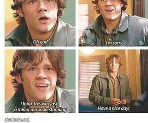 sam winchester, supernatural, and funny image
